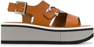 Clergerie Buckled Wedge Sandals
