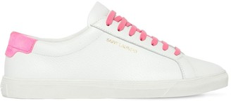 Saint Laurent 20mm Andy Grained Leather Sneakers