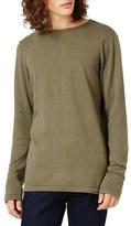 Topman Longline Split Hem Crewneck Sweater