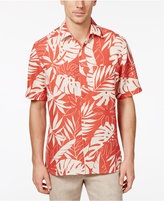 Tasso Elba Men's Woodblock Leaf Print Shirt, Only at Macy's