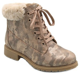 Mia Kid's Joani Faux Fur-Trim Faux Leather Boots
