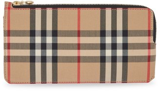 Burberry Raley Vintage Check Leather Card Case
