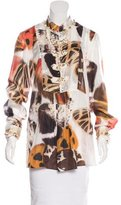 Blumarine Embellished Silk Top w/ Tags