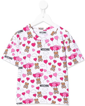 MOSCHINO BAMBINO heart balloon bear T-shirt