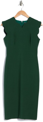 Maggy London Scallop Sheath Dress