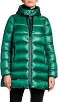Moncler Suyen Hooded Zip Coat