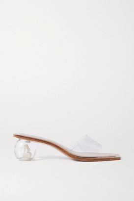 Cult Gaia Tao Shell-embellished Pvc Mules - Clear