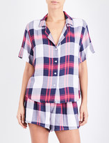 Rails Checked woven pyjama set