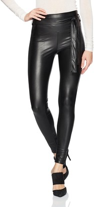 David Lerner Women's Mid-Rise Seamed Belted Legging