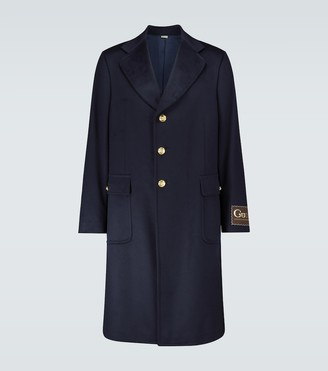 Gucci Cashmere-blend coat with logo