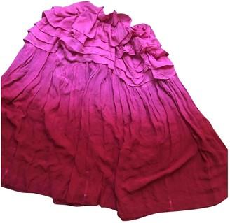 Limi Feu Pink Silk Skirt for Women