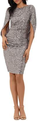 Betsy & Adam Sequin-Embellished Sheath Dress