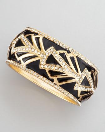 Sequin Baroque Embellished Bracelet, Black