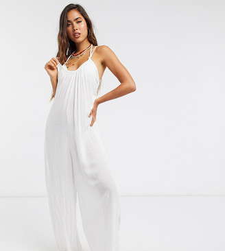 Esmée Esmee Exclusive relaxed beach jumpsuit in white