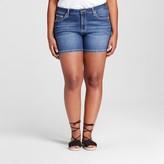 Earl Jean Women's Plus Size Short Jeans Blue