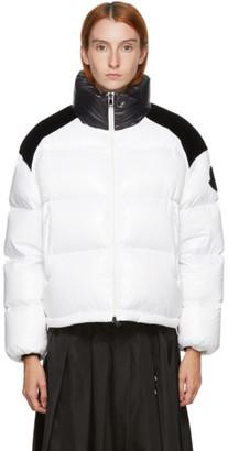 Moncler White Down Chouelle Jacket