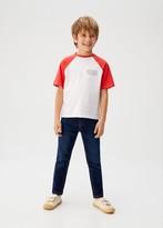 MANGO Slim-fit jeans dark blue - 5 - Kids