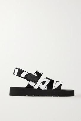 Proenza Schouler Logo-print Canvas Slingback Sandals - Black