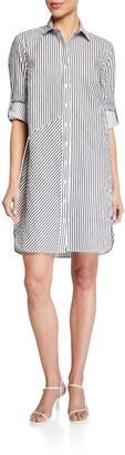 Finley Bailey Stripe Textured Long-Sleeve Shirtdress