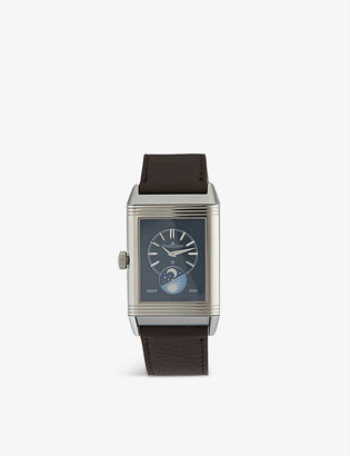 Jaeger-LeCoultre Q3958420 Reverso stainless steel and leather watch