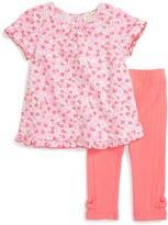 Kate Spade Floral Print Top & Legging Set (Baby Girls)