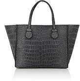 Moreau Women's Brégançon Crocodile Zip Tote Bag-Grey