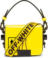 Off-White Off White Patent Baby Flap Bag in Yellow & Black | FWRD