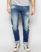 Diesel Belther 850W Slim Tapered Fit Stretch Mid Blue Wash