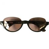 Fendi Khaki Plastic Sunglasses