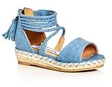 Steve Madden Girls' Denim Espadrille Platform Wedge Sandals - Toddler
