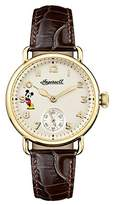 Ingersoll Disney Women's The Trenton Union Quartz Watch with White Dial and Brown Leather Strap ID00102