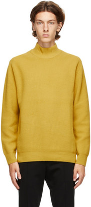 Solid Homme Yellow Wool Turtleneck