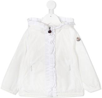 Moncler Ruffled Trim Lightweight Jacket