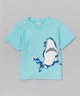 Flap Happy Shark Party Seafoam Tee - Infant Toddler & Boys