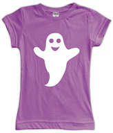 Urban Smalls Purple Happy Ghost Fitted Tee - Toddler & Girls