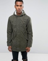Jack & Jones Hooded Parka With Borg Lining