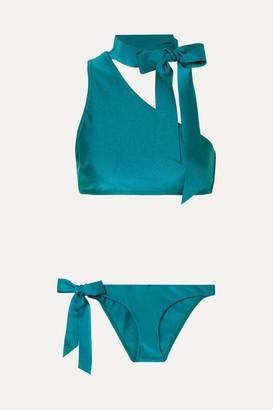 Zimmermann Eyes On Summer One-shoulder Bikini - Teal