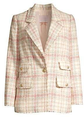 Rebecca Taylor Women's Plaid Tweed Jacket