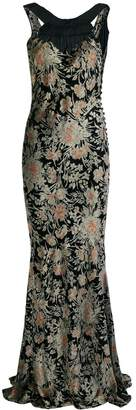 John Galliano Pre Owned floral print gown