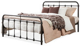 Baxton Studio Mandy Vintage Industrial Black Finished Metal Full Platform Bed