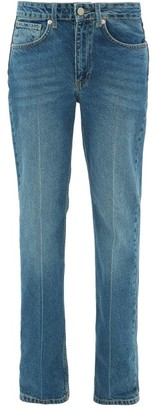Raey Push Straight-leg Jeans - Womens - Dark Blue