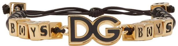 Dolce & Gabbana Black and Gold Boys Bracelet