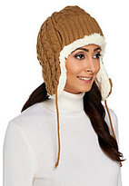 Muk Luks As Is Classic Cable Knit Trapper Hat