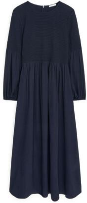 Arket Shirred Voile Dress