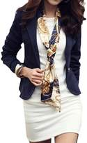 CFD Womens Bodycon Solid Color One Button Blazer Jackets S