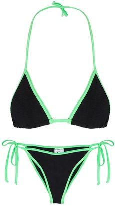Hunza G Carmen black seersucker bikini