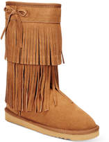 American Rag Senecah Cold-Weather Fringe Boots, Only at Macy's Women's Shoes