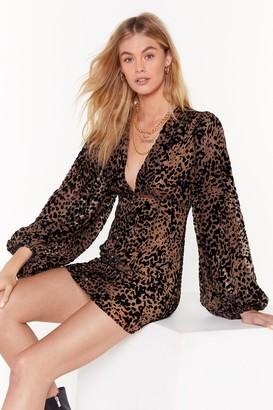 Nasty Gal Womens Dancing in the Dark Leopard Mini Dress - Brown