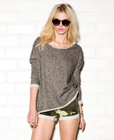 Forever 21 Marled Open-Knit Pullover
