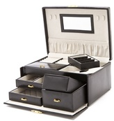 Gift Boutique Tiered Leather Jewelry Box